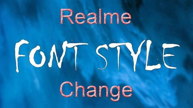 realme font style change app downlaod