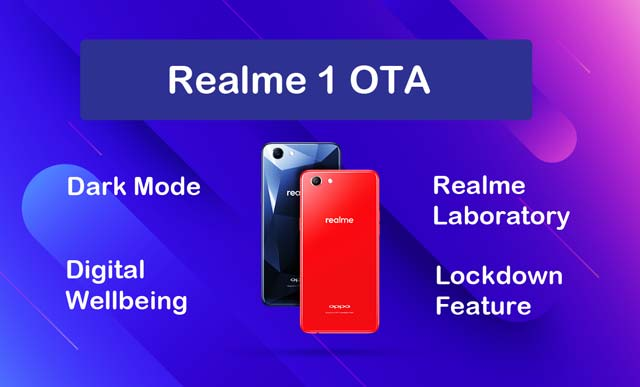 realme 1 dark mode & digital wellbeing
