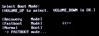 entering fastboot mode