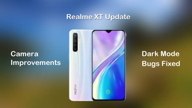 realme xt color so update with dark mode and camera improvements