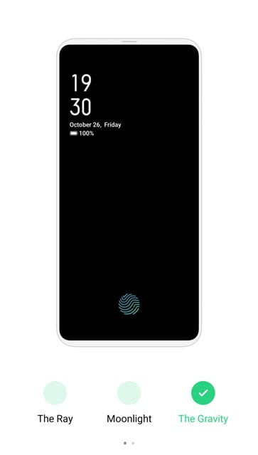 Realme XT fingerprint animation style