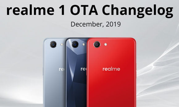 Realme 1 ColorOS 6 december month update features & download link