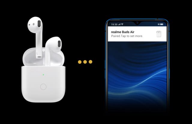 realme air buds open up auto connection