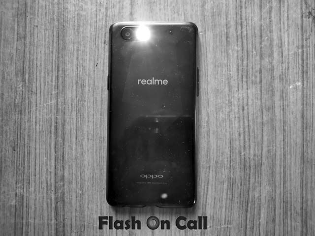 enable flash on call in realme devices