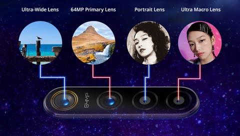 Realme X50 64MP quad rear camera setup
