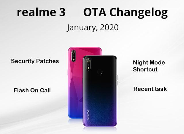 realme 3 coloros sotware update download january 2020