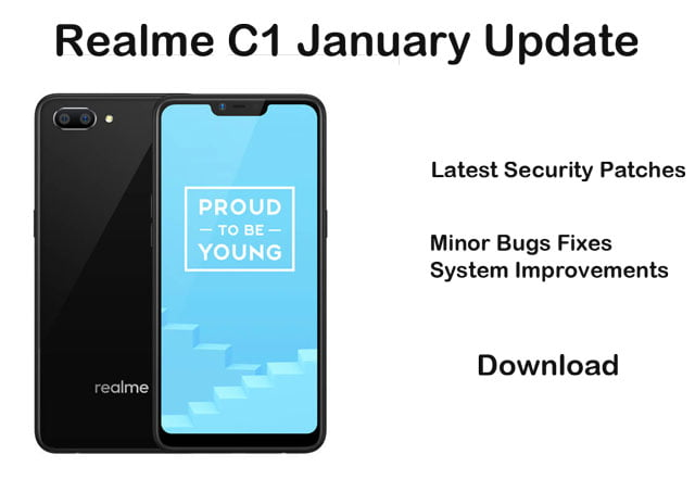 realme C1 coloros software update January 2020