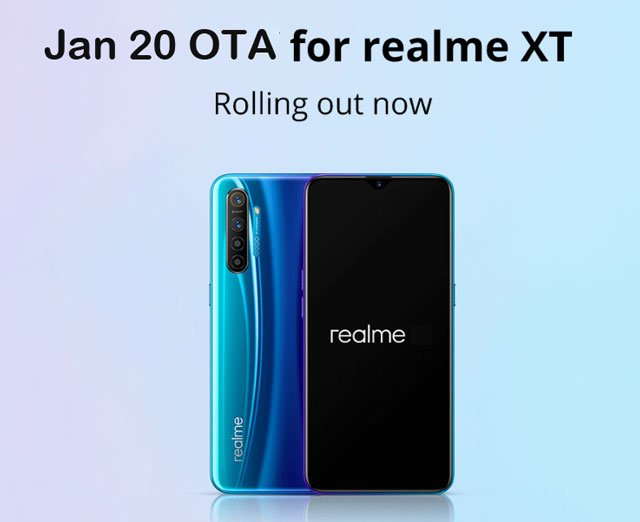 Realme xt coloros 6 january update download
