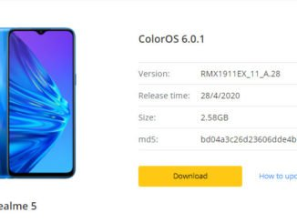 realme 5 & 5i coloros 6 update features