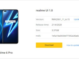 realme ui update for realme 6 pro