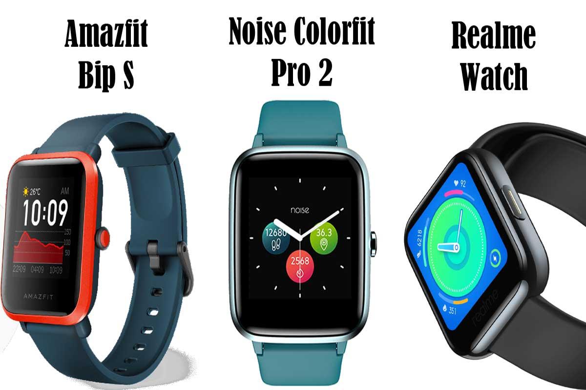 Realme watch vs Noise Colorfit Pro 2 vs Amazfit Bip S detailed comparison