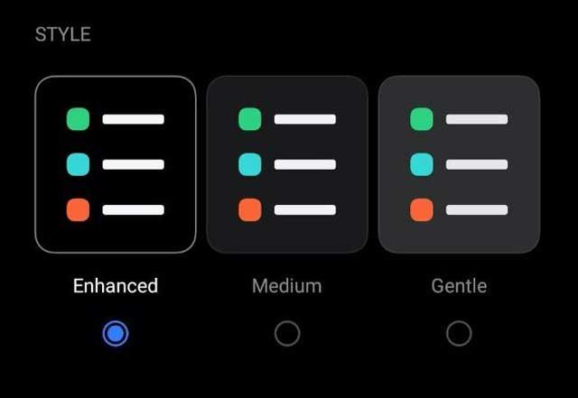 realme ui 2.0 update Three dark mode styles