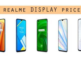realme display price list india 2021